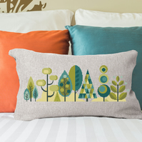 Scandinavian Modern Forest Trees - Spring - Contemporary cross stitch pattern