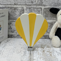 15cm Yellow Hot Air Balloon, Nursery Decor, Childrens Bedroom Decor
