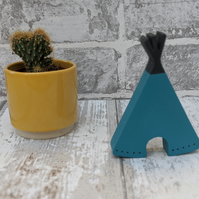 10cm Teal Teepee, Nursery Decor, Childrens Bedroom Decoration