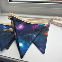 Planets bright colour Bunting