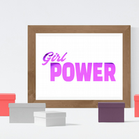 Girl Power Foil Print