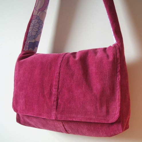 Purple Berries Messenger Bag