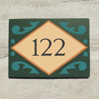 Green Folky House Number (Small)
