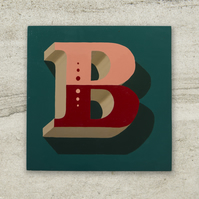 Hand-painted Letter B Intial Sign