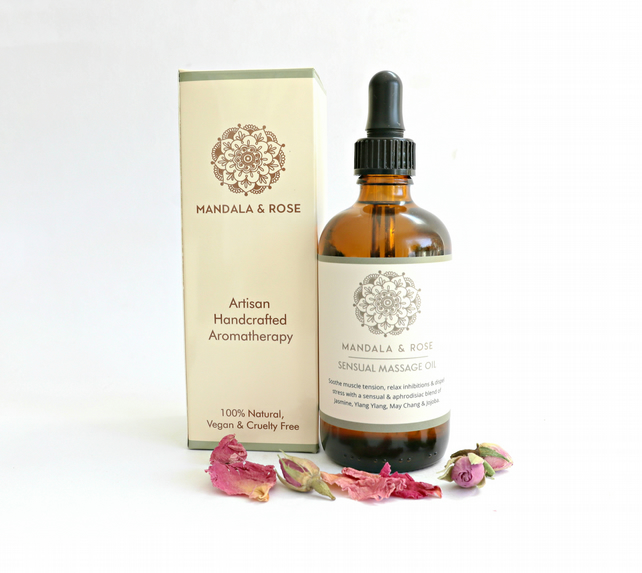Sensual Massage & Body Oil - Relaxing, Sensual & Aphrodisiac Aromatherapy Blend