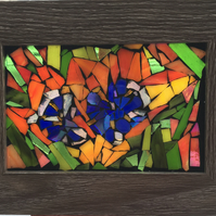 Tulip Stained Glass Mosaic Picture or Window Hanging