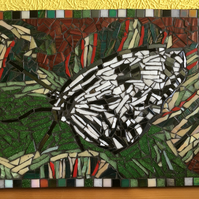 Black and White Butterfly Mosaic Picture