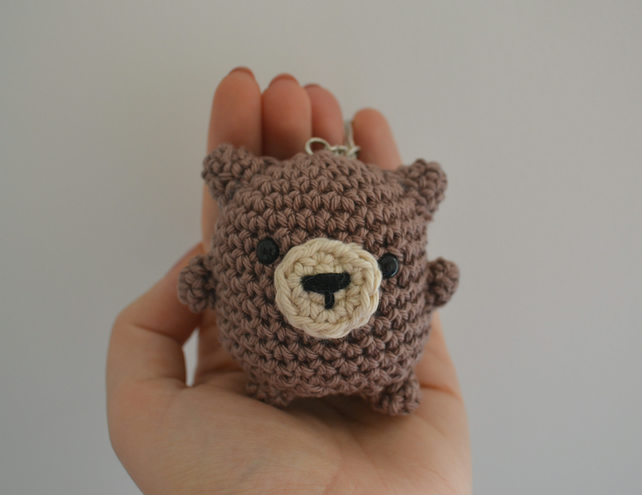 Little Chubby Bear Keyring Accessory - Available in Brown or Grey!
