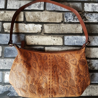 'Autumn's Confetti' Leather Up-cycled Handbag