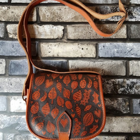 'Autumn Falls' Leather Up-cycled Handbag