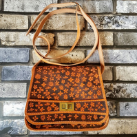 'Spring Bloom' Up-cycled Leather Bag