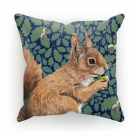 Red Squirrel Oak Cushion - Lapis