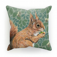 Red Squirrel Oak Cushion - Willow