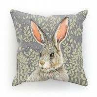 March Hare Cushion - Clay