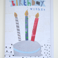 Birthday Card, Birthday Wishes, Candles, Cake
