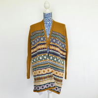 Hand Knitted Fairisle Jacket in British Wool and Alpaca