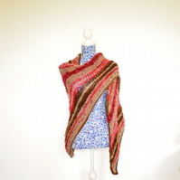 Hand Knitted Shetland Wool and Acrylic Wrap