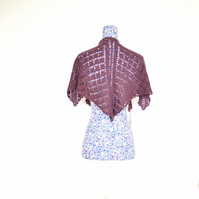 Hand Knitted, Hand Dyed Flutterby Shawl
