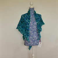 Crocheted Hand Dyed Shawl