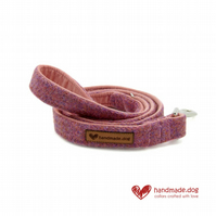 Dusky Pink 'Harris Tweed' Dog Lead