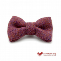 Dusky Pink 'Harris Tweed' Dog Bow Tie