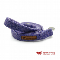 Lilac 'Harris Tweed' Dog Lead