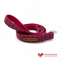 Pink and Multicolour 'Harris Tweed' Dog Lead