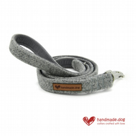 Light Grey 'Harris Tweed' Dog Lead