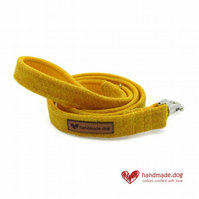 Yellow 'Harris Tweed' Dog Lead