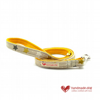 Yellow, White and Grey Stars Dog Lead