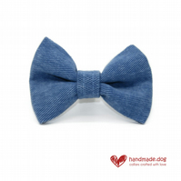Denim Fabric Dog Bow Tie