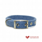 Denim Fabric Dog Collar