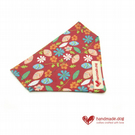 Coral and Turquoise Flowers Dog Bandana