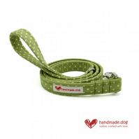 Green Spotty Dog Lead
