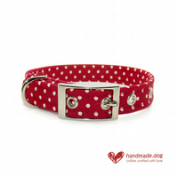 Red Spotty Dog Collar