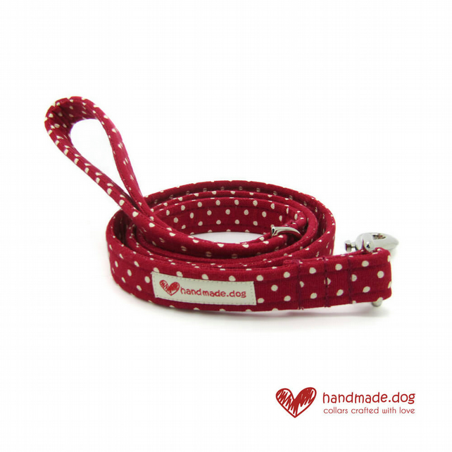 Red Spotty Dog Lead