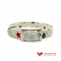 Blue Stars Dog Collar