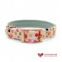 Pink Spotty Dog Collar