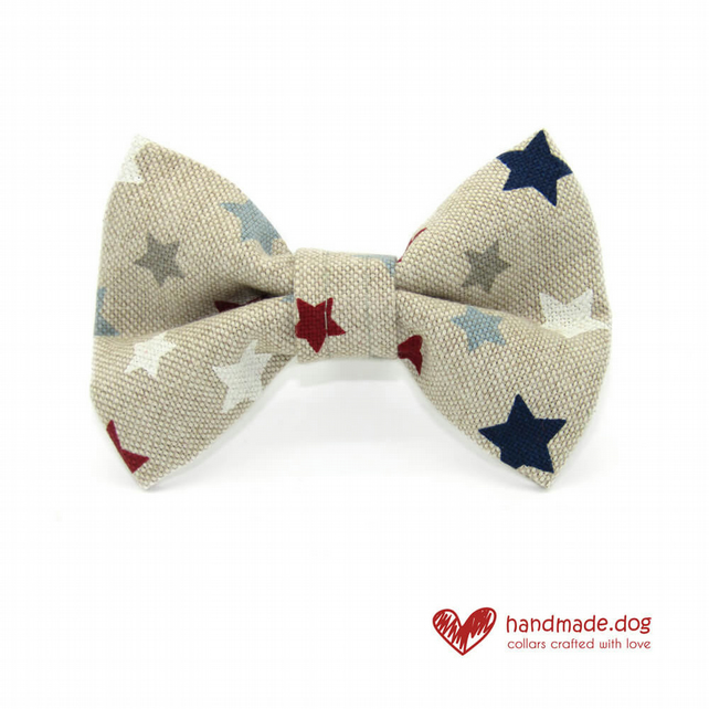 Blue Stars Dog Bow Tie