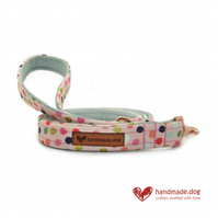 Pink Spotty Dog Lead