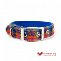 Limited Edition 'Havana' 'Harris Tweed' Dog Collar