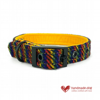 Limited Edition 'Manhattan' 'Harris Tweed' Dog Collar