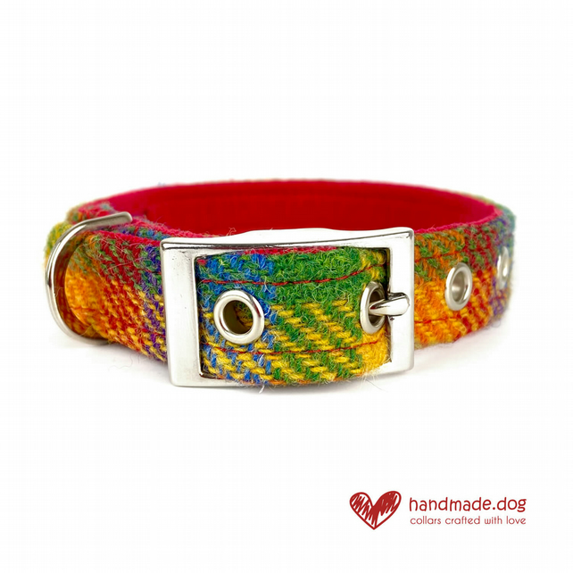Limited Edition 'Honolulu' 'Harris Tweed' Dog Collar