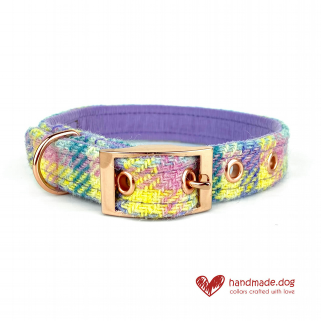 Limited Edition 'Paris'' 'Harris Tweed' Dog Collar