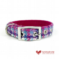 Limited Edition 'Miami'' 'Harris Tweed' Dog Collar