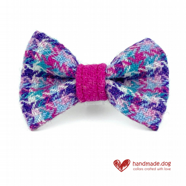 Limited Edition 'Miami''Harris Tweed' Dog Bow Tie