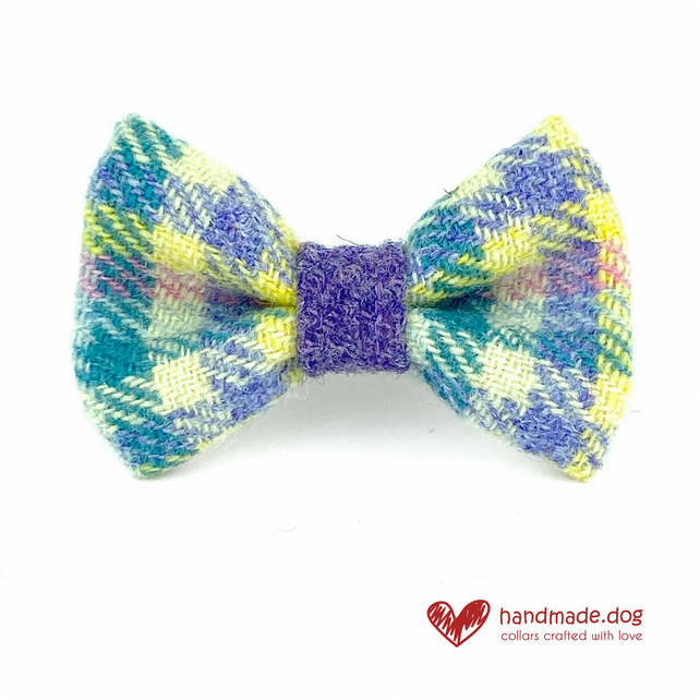 Limited Edition 'Paris''Harris Tweed' Dog Bow Tie