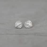 Little Moon Sterling Silver Stud Earrings