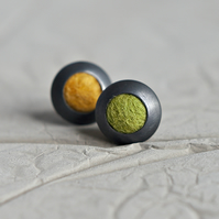 Colourful Funky Dots Sterling Silver Stud Earrings