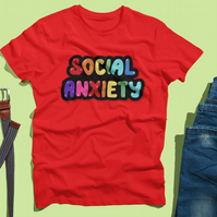 Social Anxiety Multi Heavy Weight T-Shirt